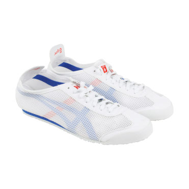 buy online 13659 ec765 男款】Onitsuka Tiger Mexico 66 运动鞋白色/蓝色D508N-0144 ...
